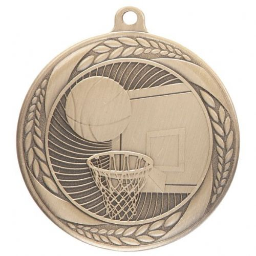 Typhoon Basketball Medal Gold 55mm